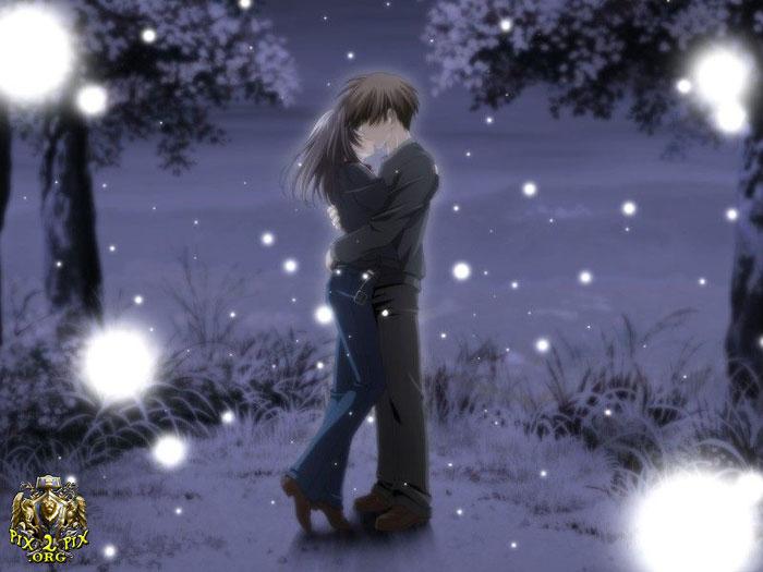 Anime Couple Kiss